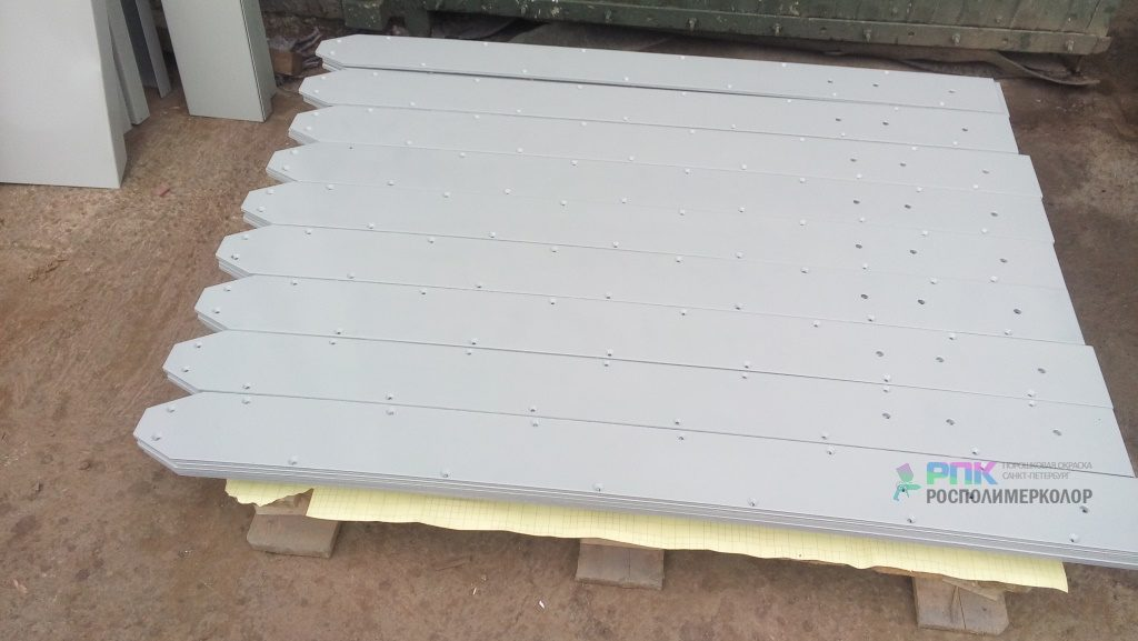 Покраска кронштейнов и пластин для строительства в г. Ялта