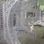 Порошковая окраска макета Эйфелевой башни для ТРЦ Галерея