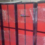 Порошковая окраска шкафчиков для сети фитнес клубов