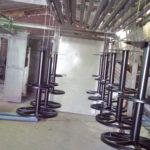 Порошковая окраска металлических стульев