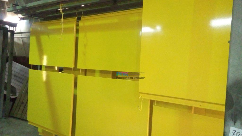 Окраска облицовочных панелей магазина Лента