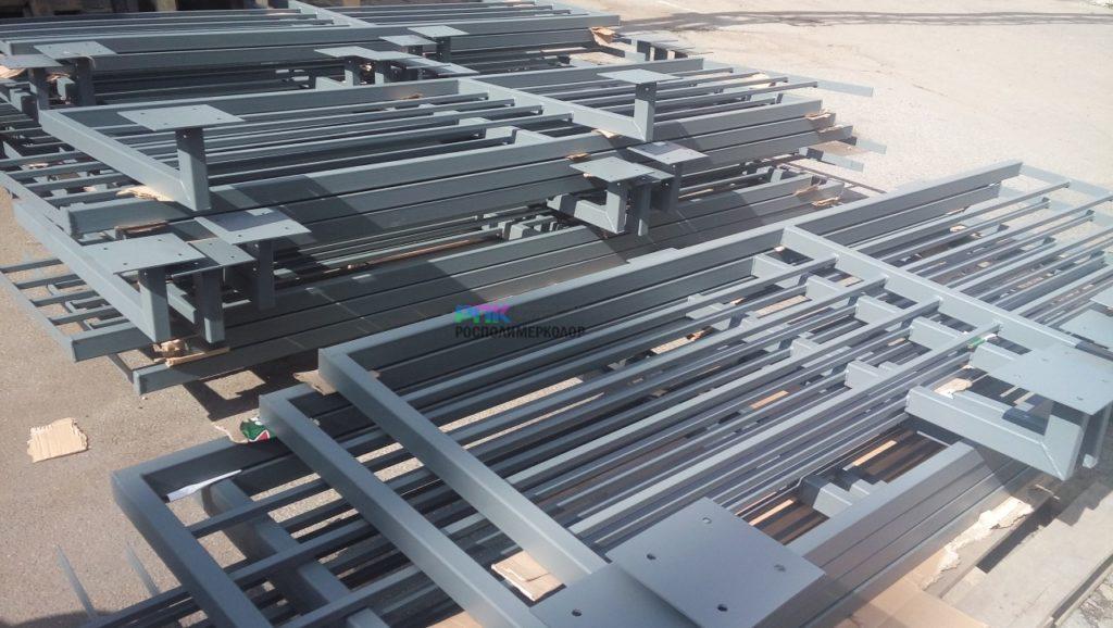 Порошковая покраска ограждений крыши