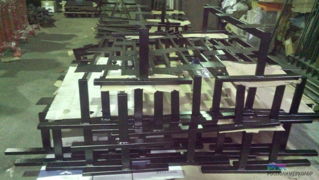 Порошковая окраска подстольев из металла